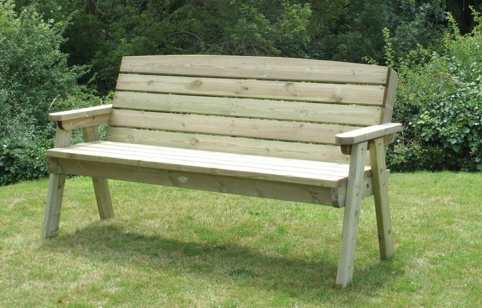 dean three seater bench - charltons timberstore