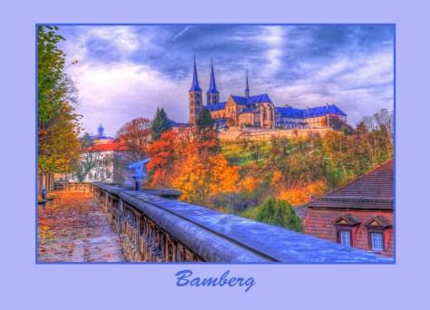 Bambergpostkarte Michelsberg blau_vor_kl, Autor: Charlotte Moser