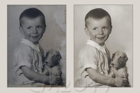 Fotorestaurierung Beispiel vorher-nachher, autor: charlotte moser