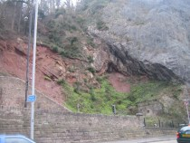 Thrust fault in the north side of the Avon Gorge