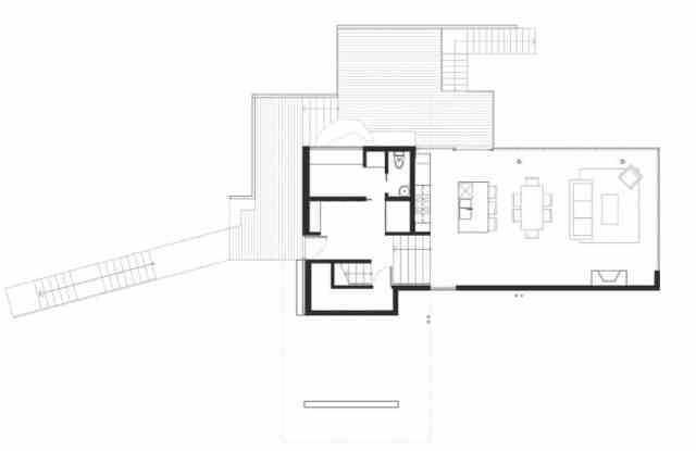 マクファーレン・ビガー・アーキテクツ+デザイナーによる岩場の劇的な島の隠れ家(13)