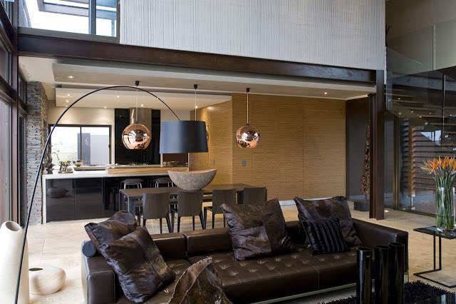 リビングルームのインテリアデザイン南アフリカの大邸宅の間にあるモダンな宝石-セレンゲティ・ハウスbyニコ・ファン・デル・ミューレン・アーキテクツ