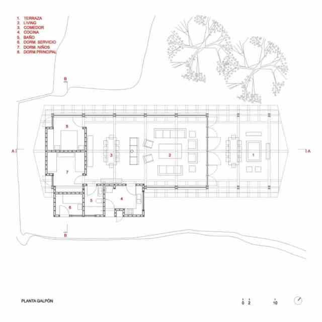 旧納屋がチリのラゴランコに新しい素朴な避難所を定義(11)