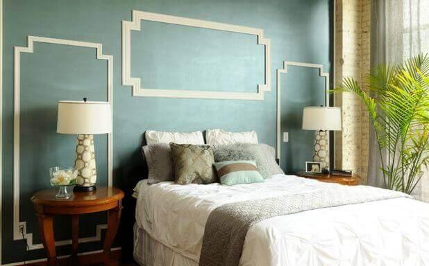 寝室のスタイリッシュな壁