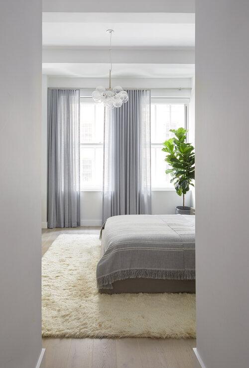 寝室の白塗りパレット