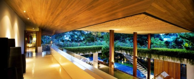 シンガポールのGuz Architects-Tangga Houseによって植生に囲まれた夢の家