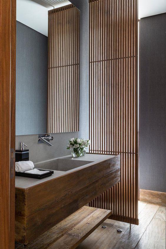 23.モダンなバスルームには壁があります