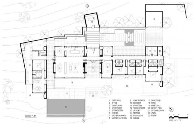 ジョンマニスカルコの美学の装飾によるオークビルの素晴らしい現代的な家(11)