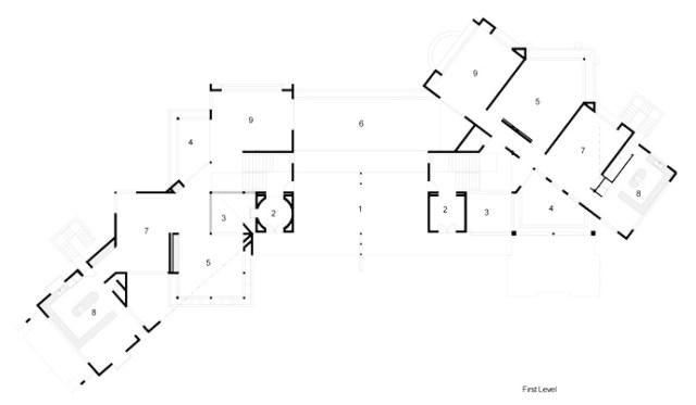 サント・ドミンゴのホメオティックスのポンス・アルキテクトスによる珍しいモダンなマンション-ティンゴとフェニーハウスのフロアプランの青写真(3)