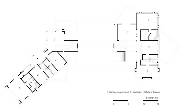 珍しいモダンマンション-ティンゴアンドフェニーハウスバイポンスアルキテクトスバイサントドミンゴのホモティクス(3)フロアプランブループリント