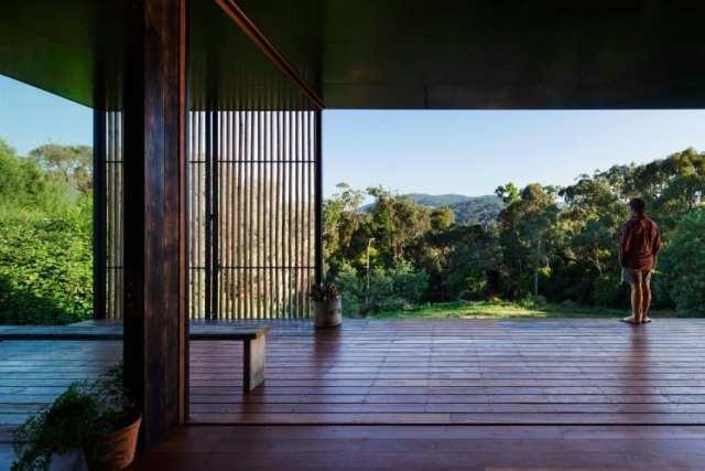 オーストラリアの製材所を定義するメモリ付きの再生コンクリートブロックhomestheticsマガジンの現代住宅(4)