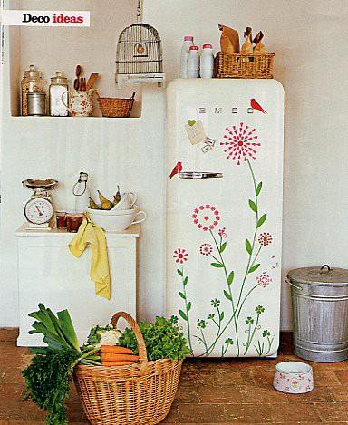 取り外し可能なステッカーまたは壁用ステッカー-DIY冷蔵庫変身アイデア