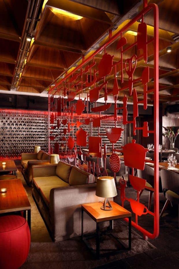 魅力的で人気のある飲食店を作るために盗むことができる25の興味深いスタイリッシュなレストランのアイデア(12)