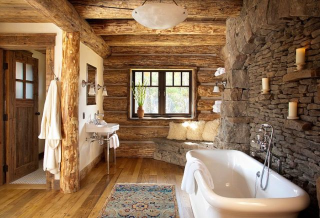 01-AD-Rustic-bathroom-in-stone-wood-with-a-snug-corner-bench