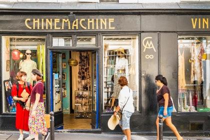 ヨーロッパ、フランス、パリ、ショップ、Chinemachine