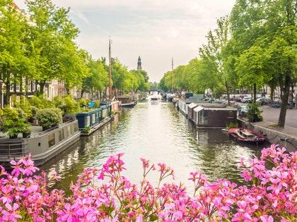 画像に含まれる可能性のあるもの:水、屋外、運河、小道、輸送、車両、ボート、植物、自動車、車