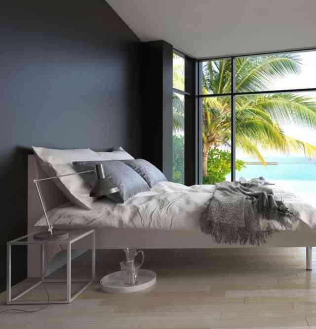 男性的なロマンチックなベッドルームのアイデア