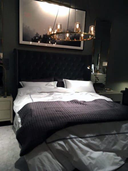 暗いロマンチックな寝室のアイデア