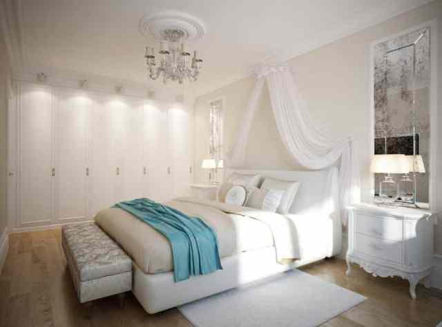 キャノピーロマンチックなベッドルームのアイデア2