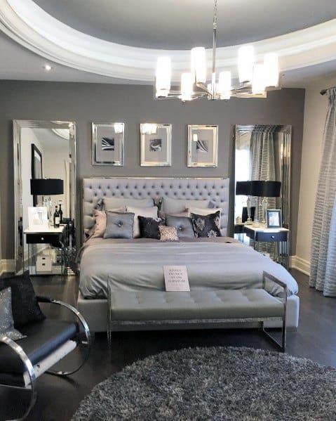 シャンデリアの寝室の照明のアイデア