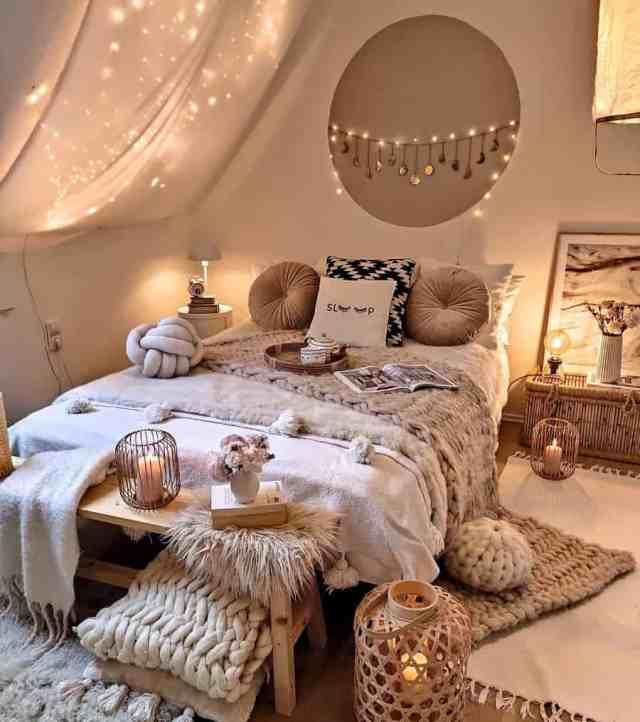 居心地の良い自由奔放に生きる寝室のアイデアherzenstimme