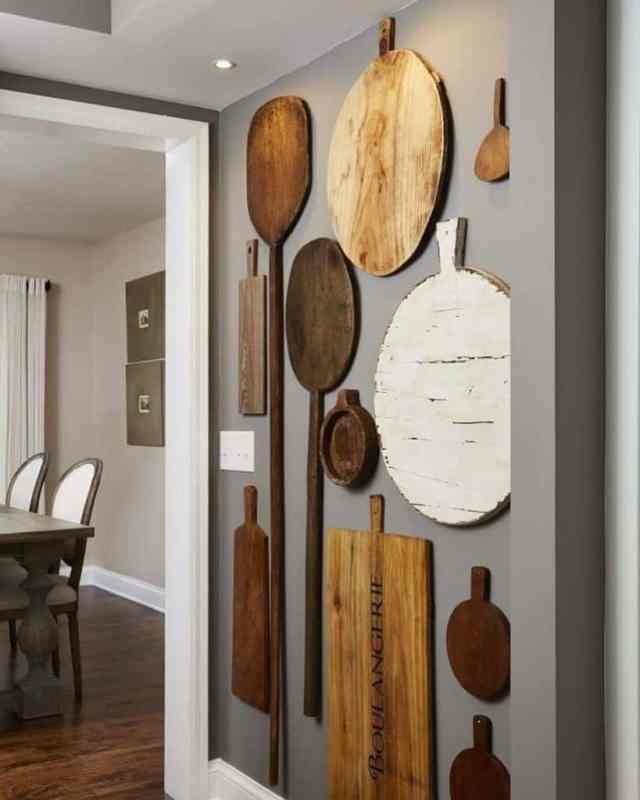 まな板の壁キッチンの壁の装飾のアイデアpuntodereves