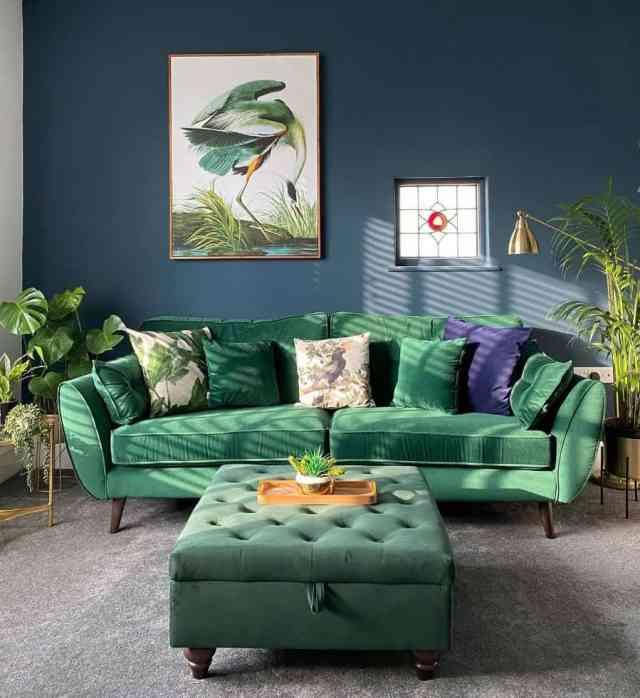 緑青のリビングルームのアイデアsophie_the1920sbungalow