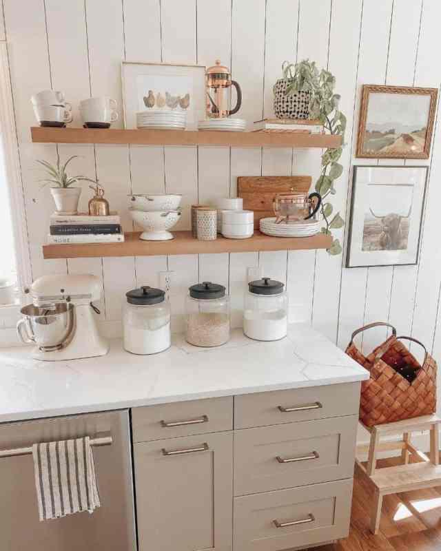 キッチンオーガナイザー棚キッチン壁の装飾のアイデアwildwillowsfarm