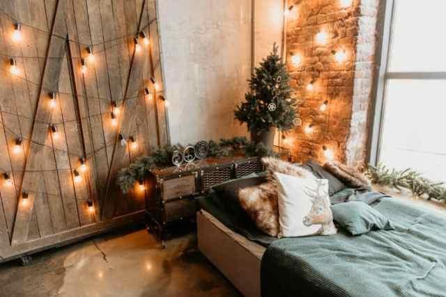 ロマンチックな寝室のアイデアを照明1