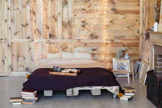 ロマンチックな寝室のアイデアの照明3