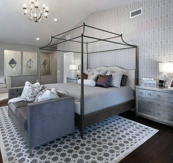 マスターベッドルームロマンチックなベッドルームのアイデア