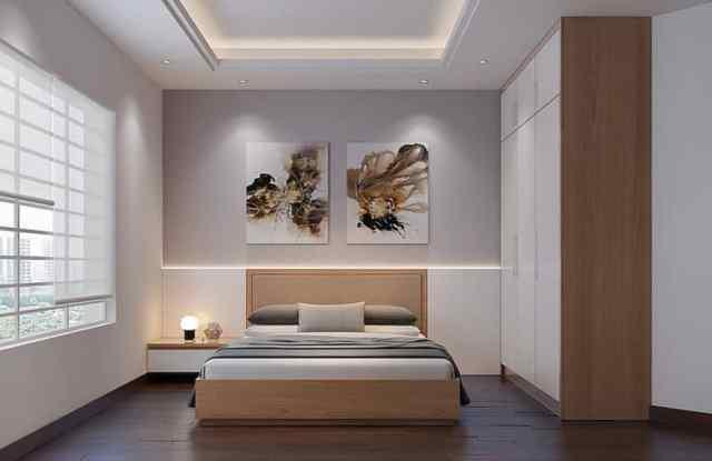 ミニマリストのモダンなベッドルームのアイデア2