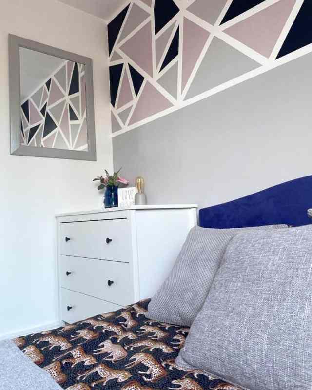 壁画と塗装壁寝室の壁の装飾のアイデアOurlittlehousey