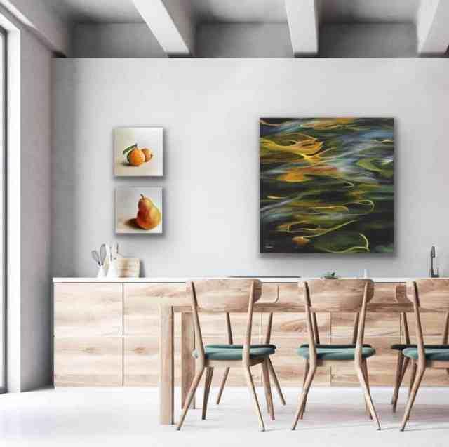 絵画キッチンの壁の装飾のアイデアkristineandreaart