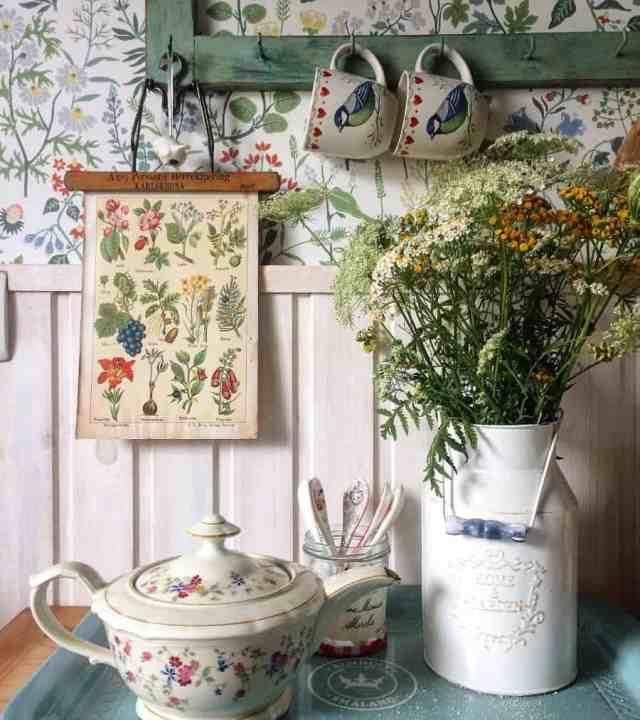 ヴィンテージキッチンの壁の装飾のアイデアgrey_home_