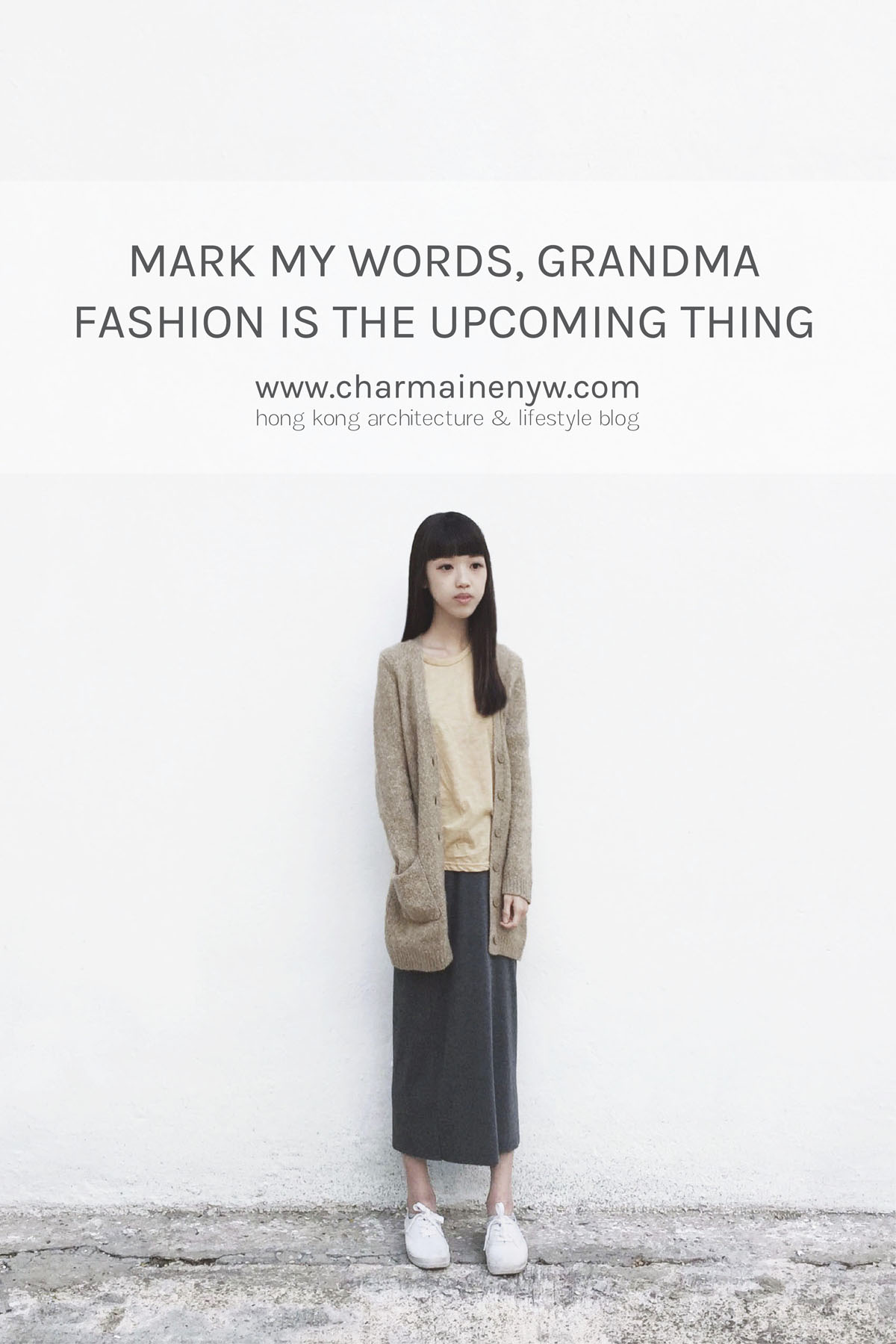The grandma cardigan is an upcoming fashion trend