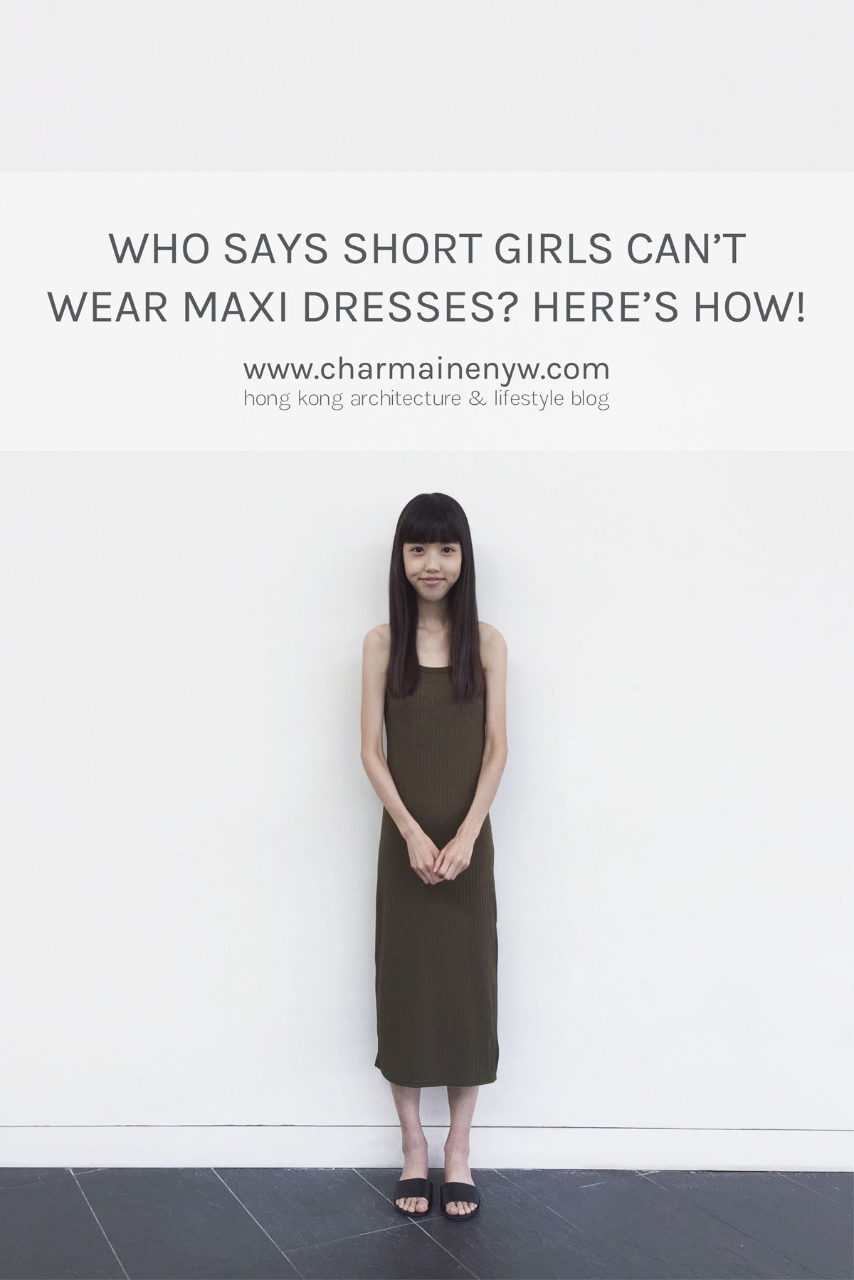 Even short girls can carry off this olive maxi dress