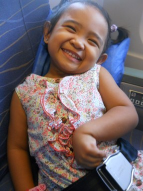 ysa's first airplane ride