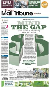 Gatehouse newspapers big front page illustration