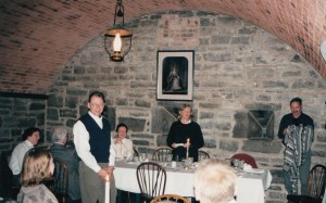 Photo of participants gathering for dinner at 1997 CHARM Conference