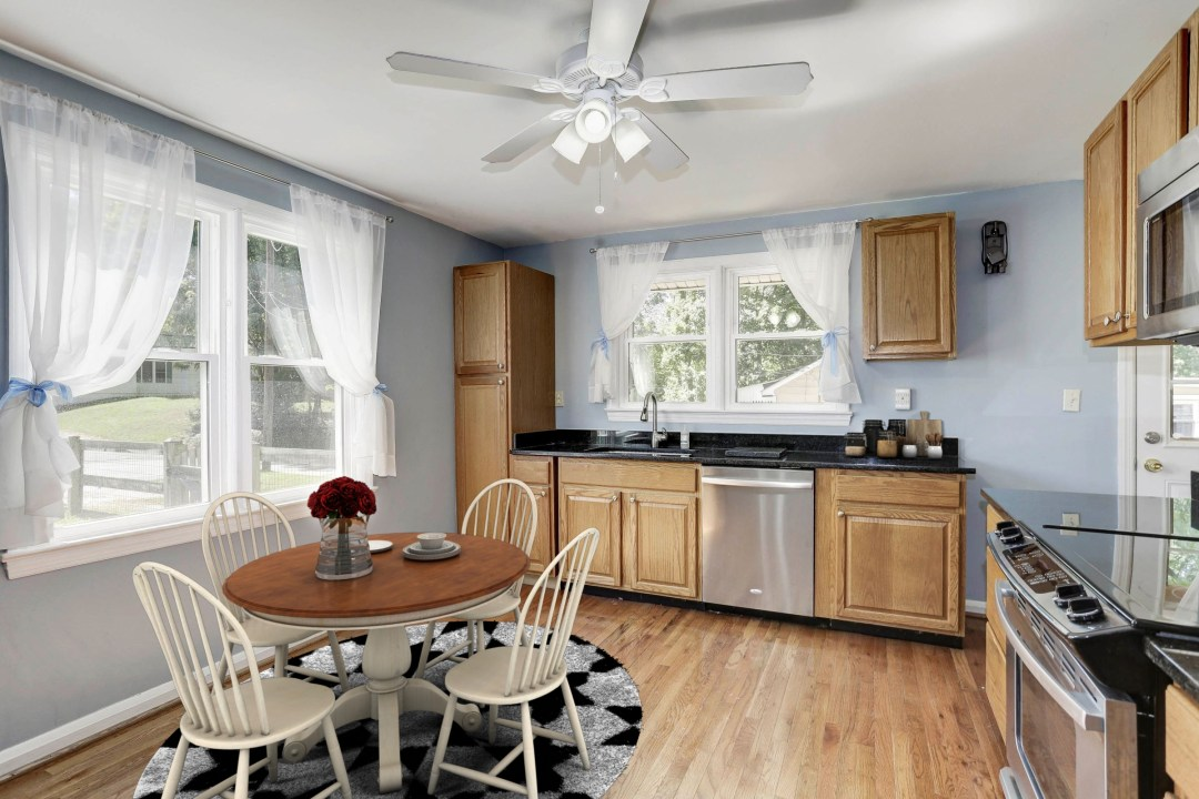 Virtual Staging of Kitchen in Columbia MD