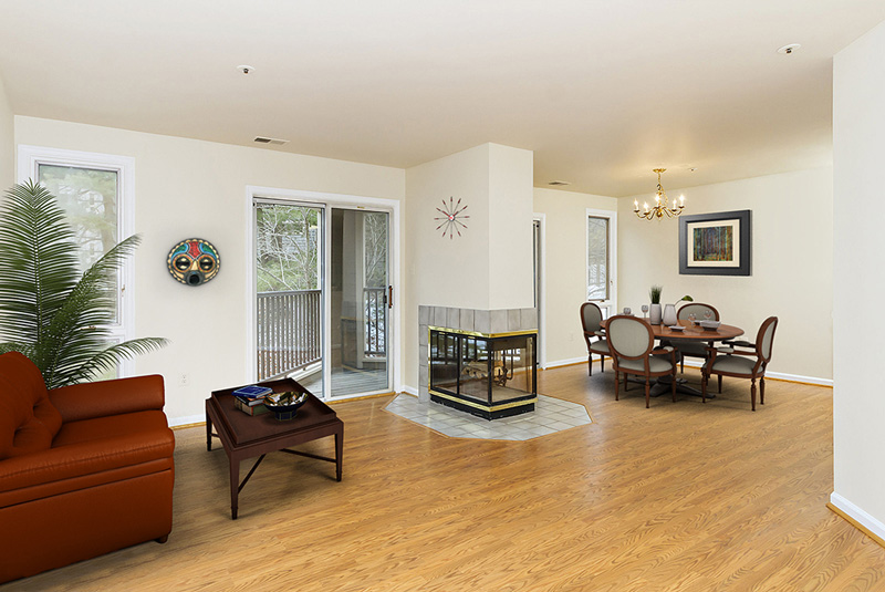 virtual staging of Columbia MD condo
