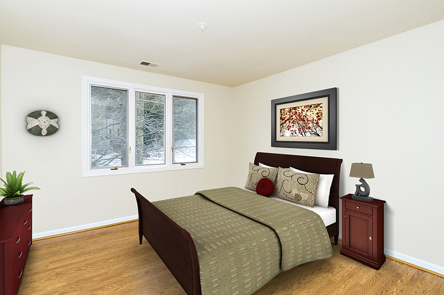 virtual staging of Columbia MD bedroom