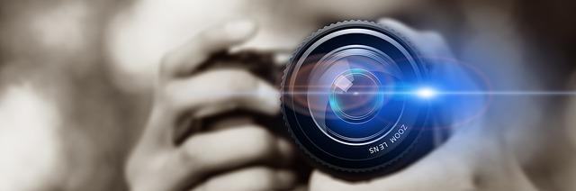 photo of zoom camera lens