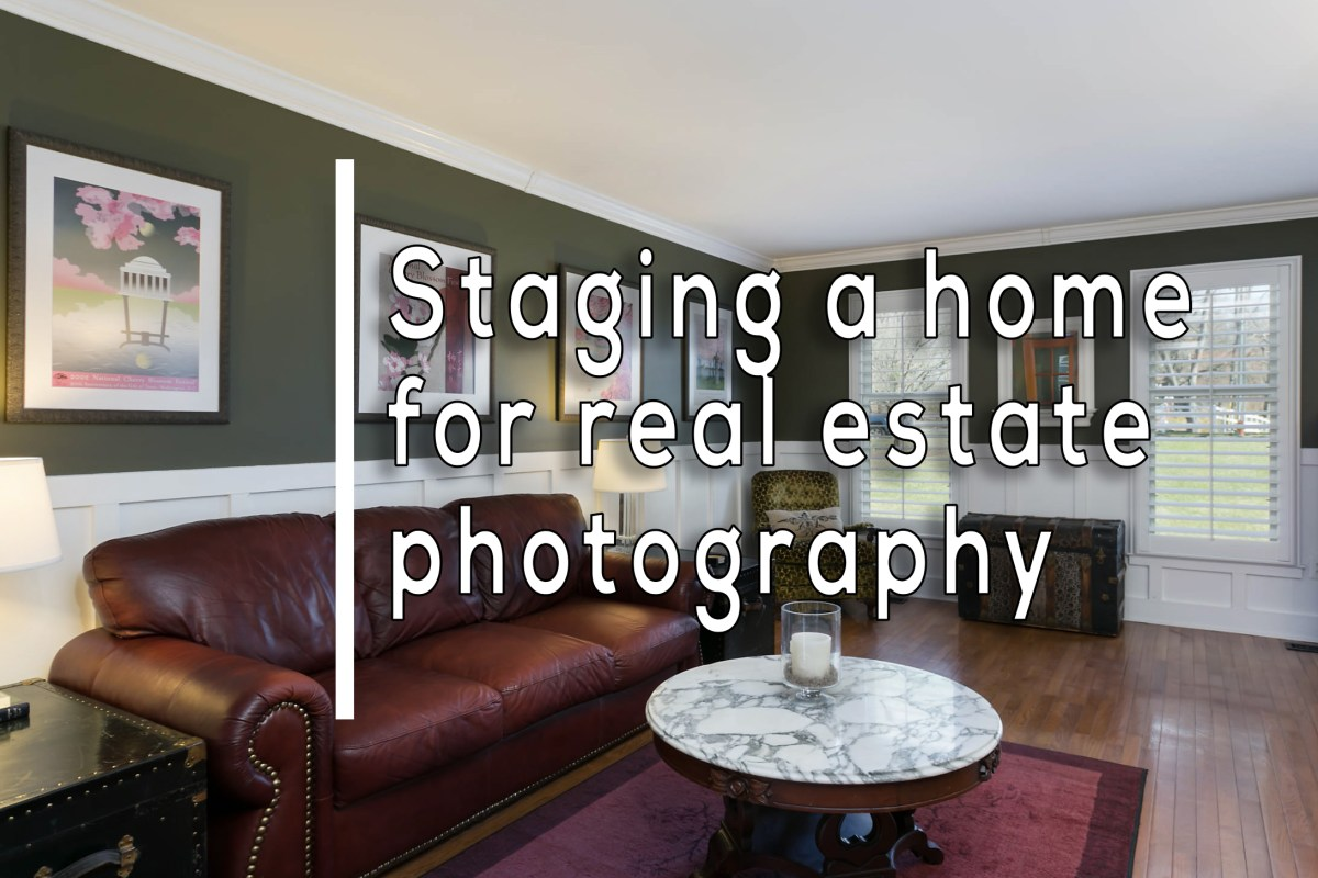 staging for real estate photography