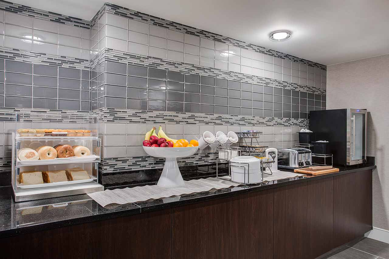 breakfast bar in hotel