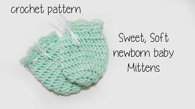 Free Newborn Scratch Mitten Crochet Pattern Charmed By Ashley