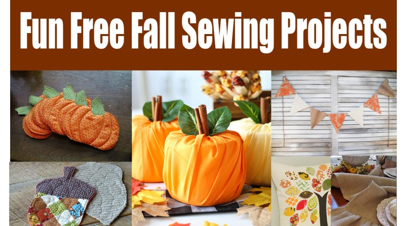 Fun Fall Decor Sewing tutorials