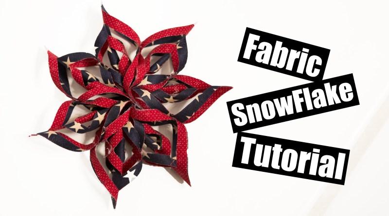 Fabric Snow Flake tutorial