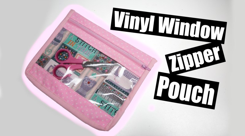 Vinyl Window Zipper pouch